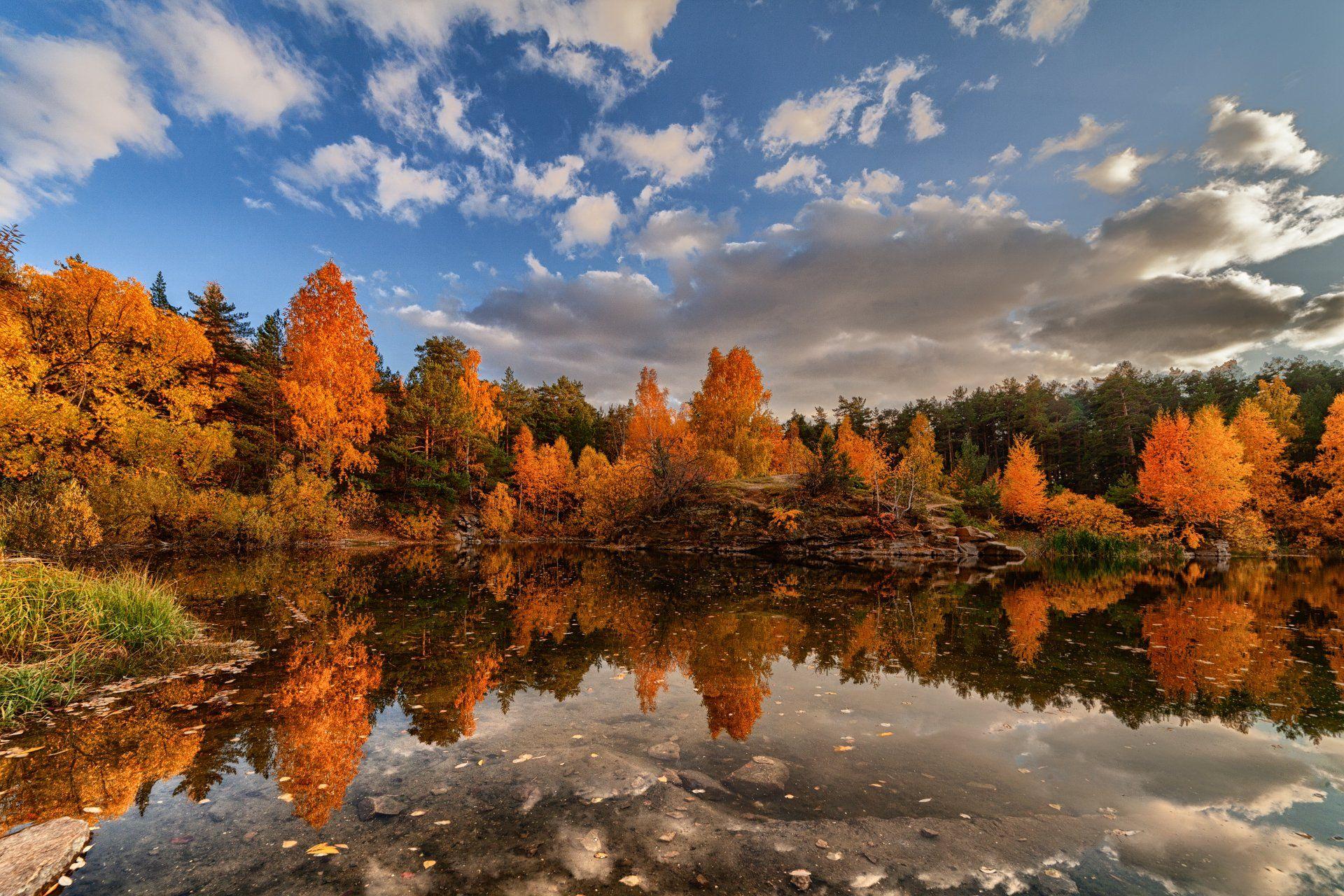 осень, пейзаж, южный урал, челябинск, шершнёвский  бор, Данил Ромодин