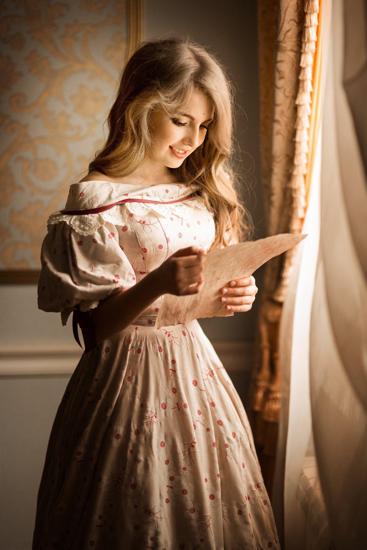 девушка, красивая, 19 век, история, историческая реконструкция, платье, образ, Комарова Дарья