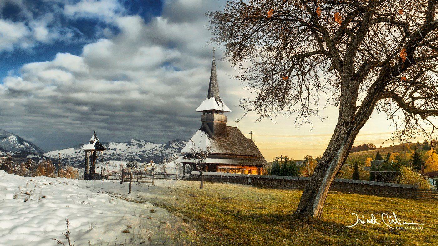 winter, mountain, autumn, church, landscape, Irinel Cirlanaru