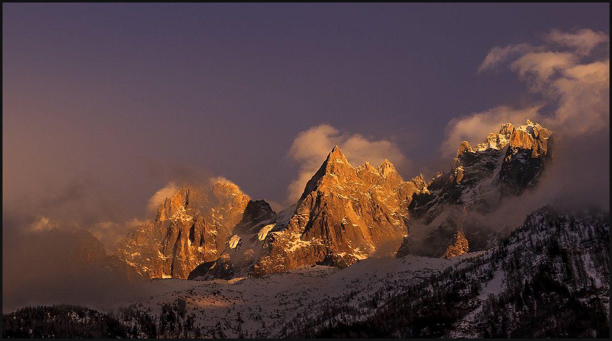 горы, франция, закат, Vitaliy Rage