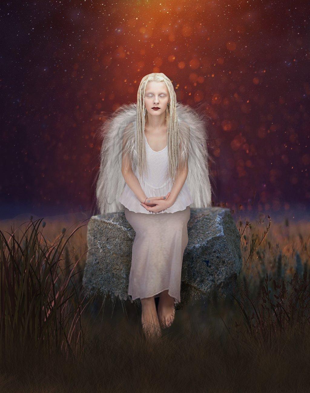 портрет. девушка. ангел. крылья. свет. креатив., Nataliorion