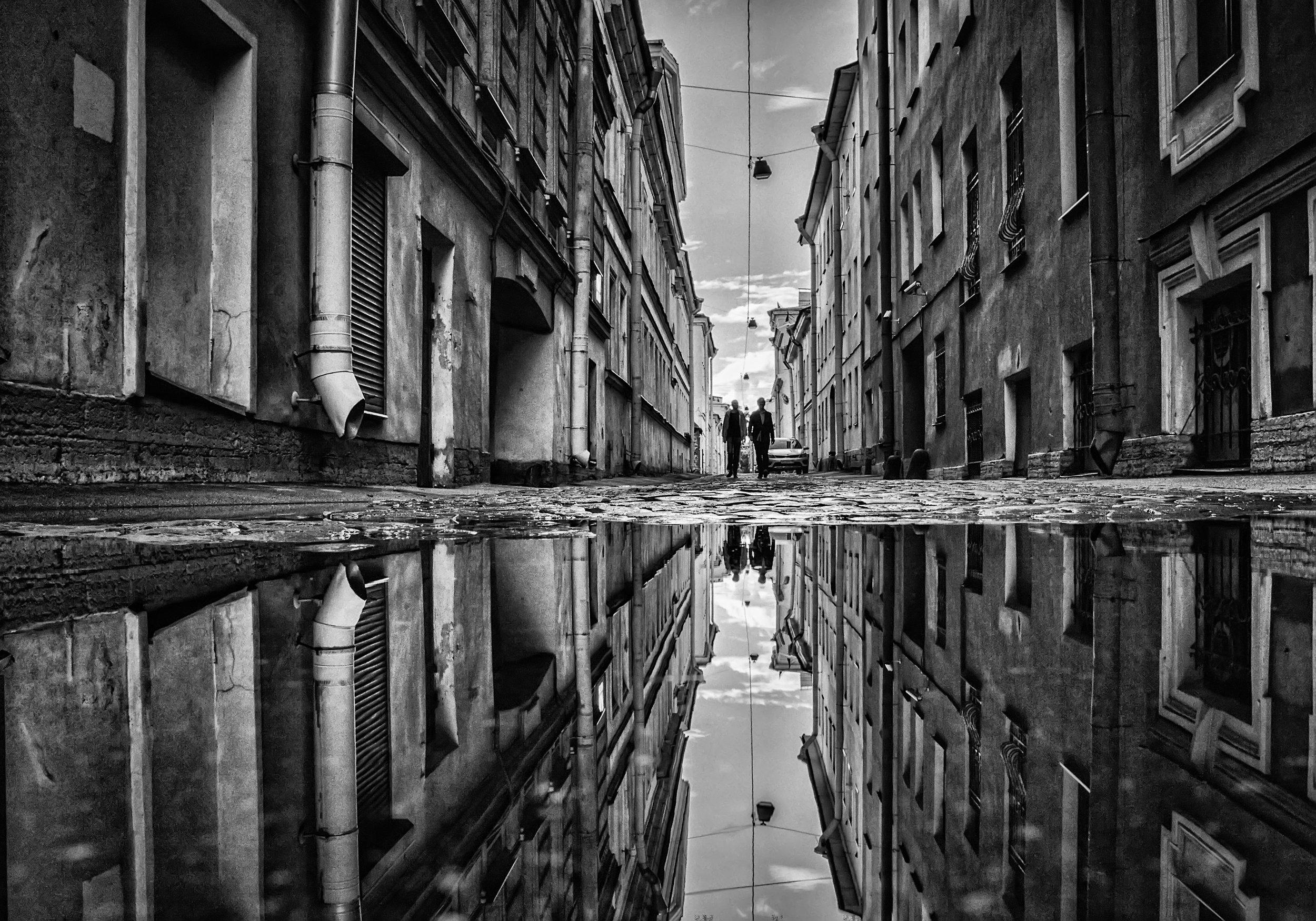 город,улица,петербург,архитектура,отражения,лужа, Тамара