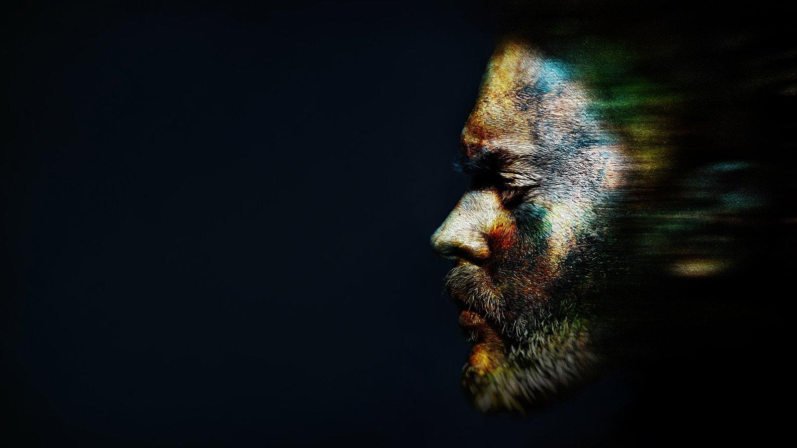 fine art, wall art, color face, Ковалёв Иван