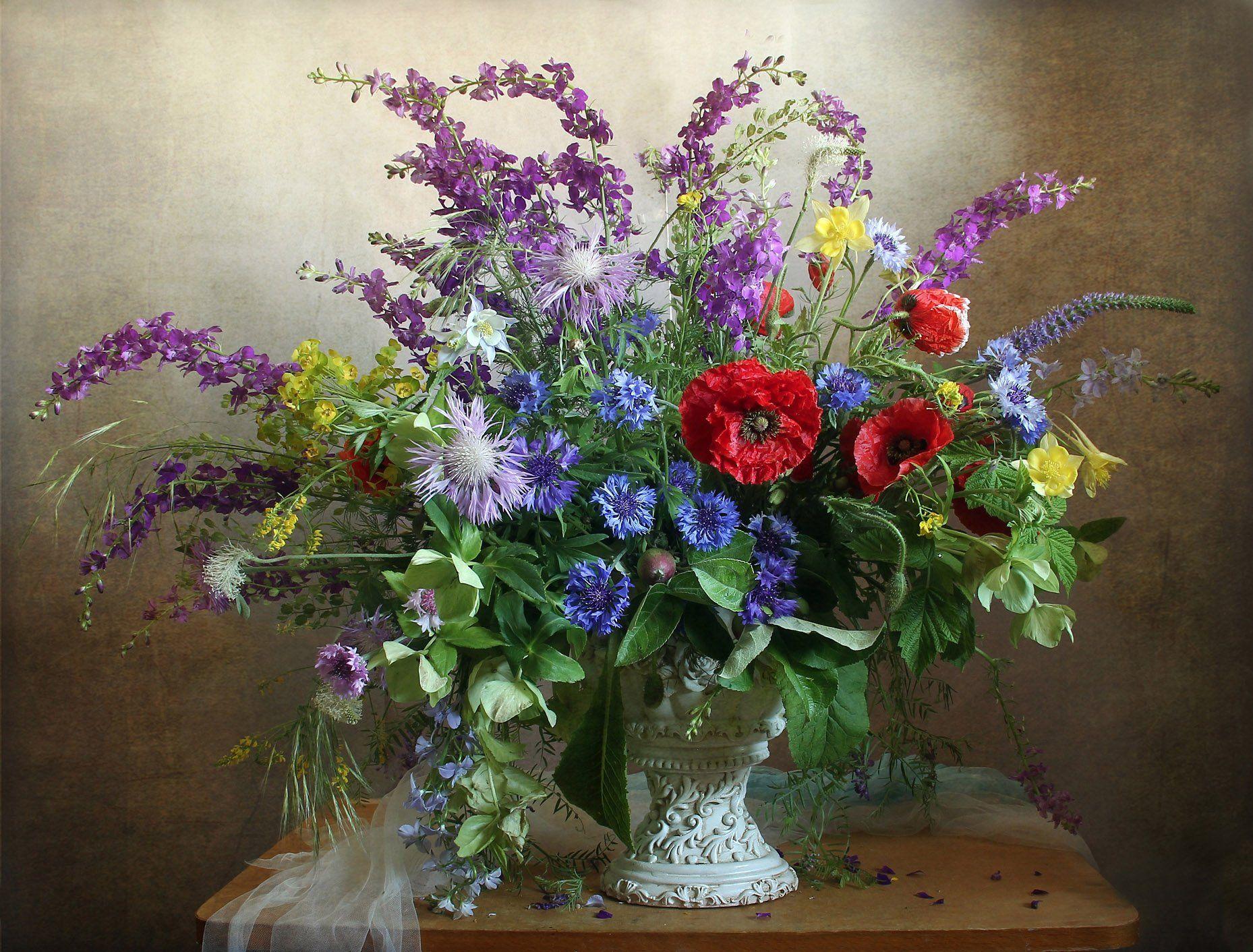 весна, натюрморт, букет цветов, маки, васильки, марина филатова, Филатова Марина
