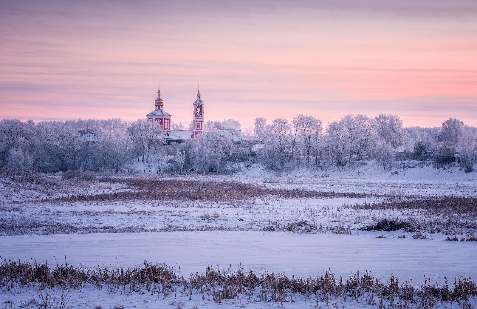 мороз, суздаль, зима, пейзаж, Левыкин Виталий