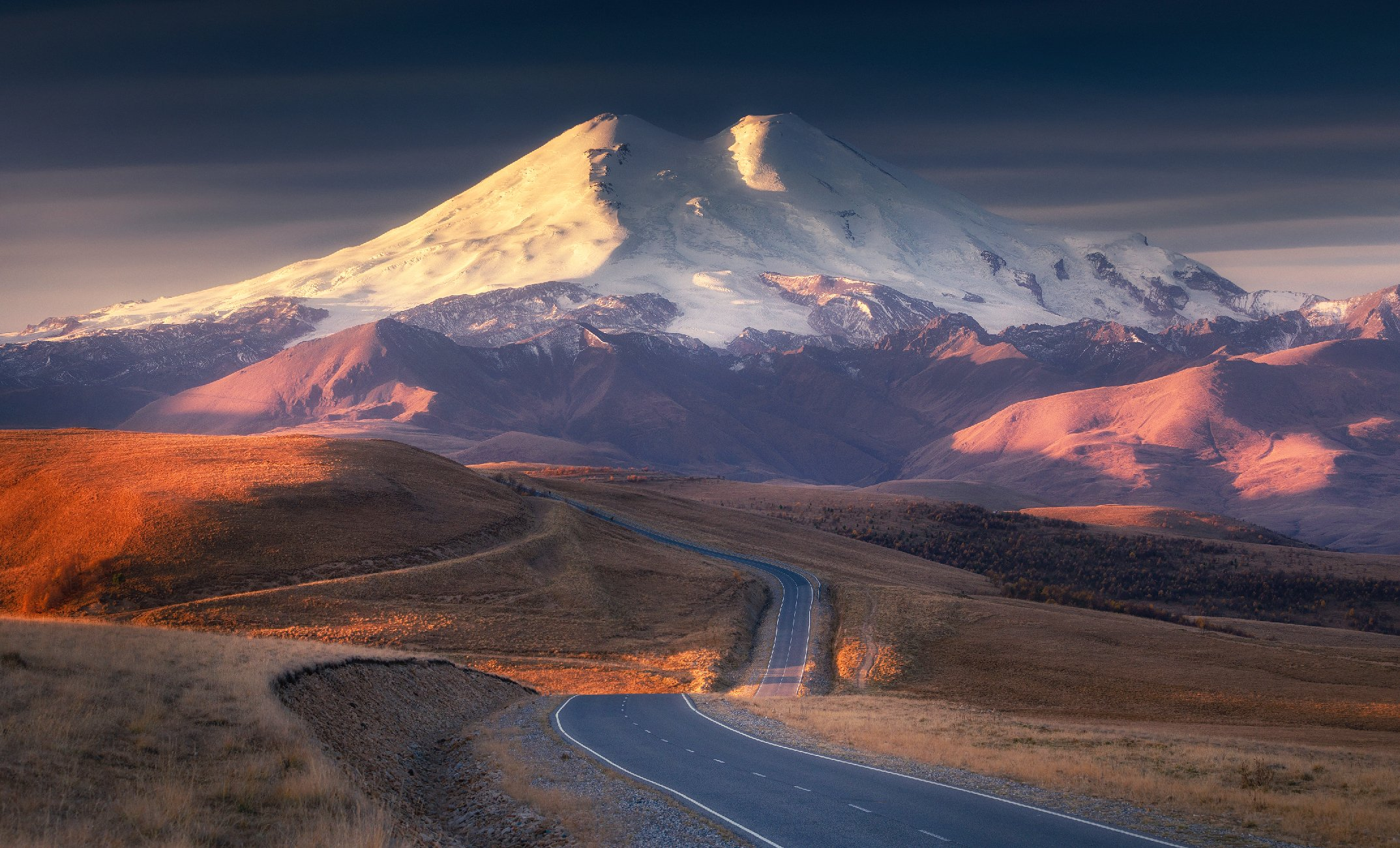 эльбрус, кавказ, закат, гора, природа, elbrus, mountain, Сергей Луканкин