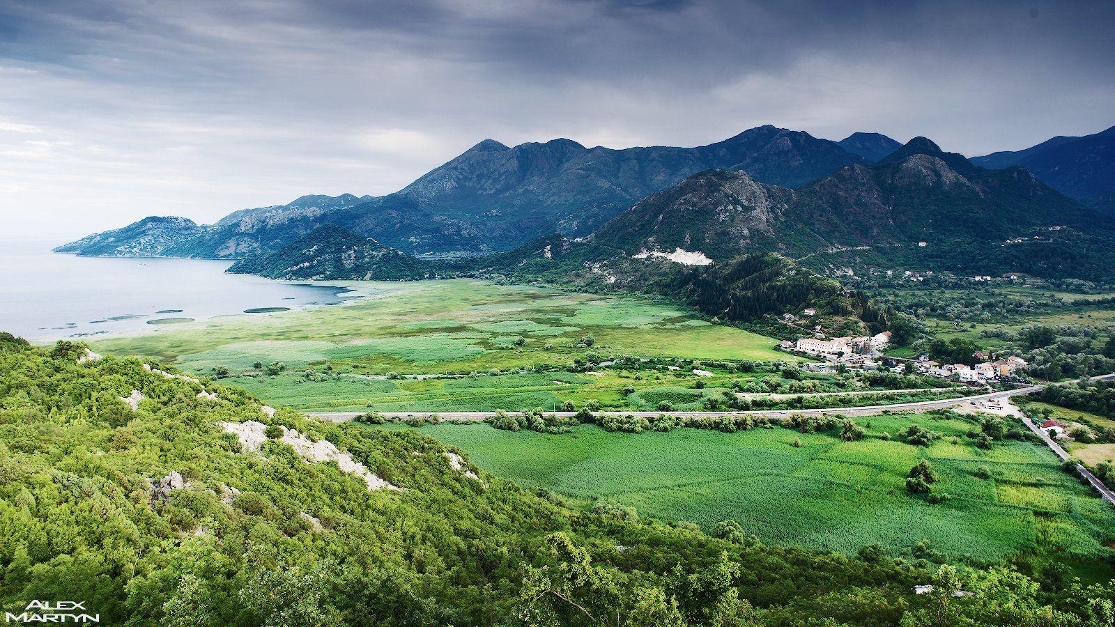 черногория, озеро, скадарское, долина, зима, панорама, вид, пейзаж, Александр Мартынов