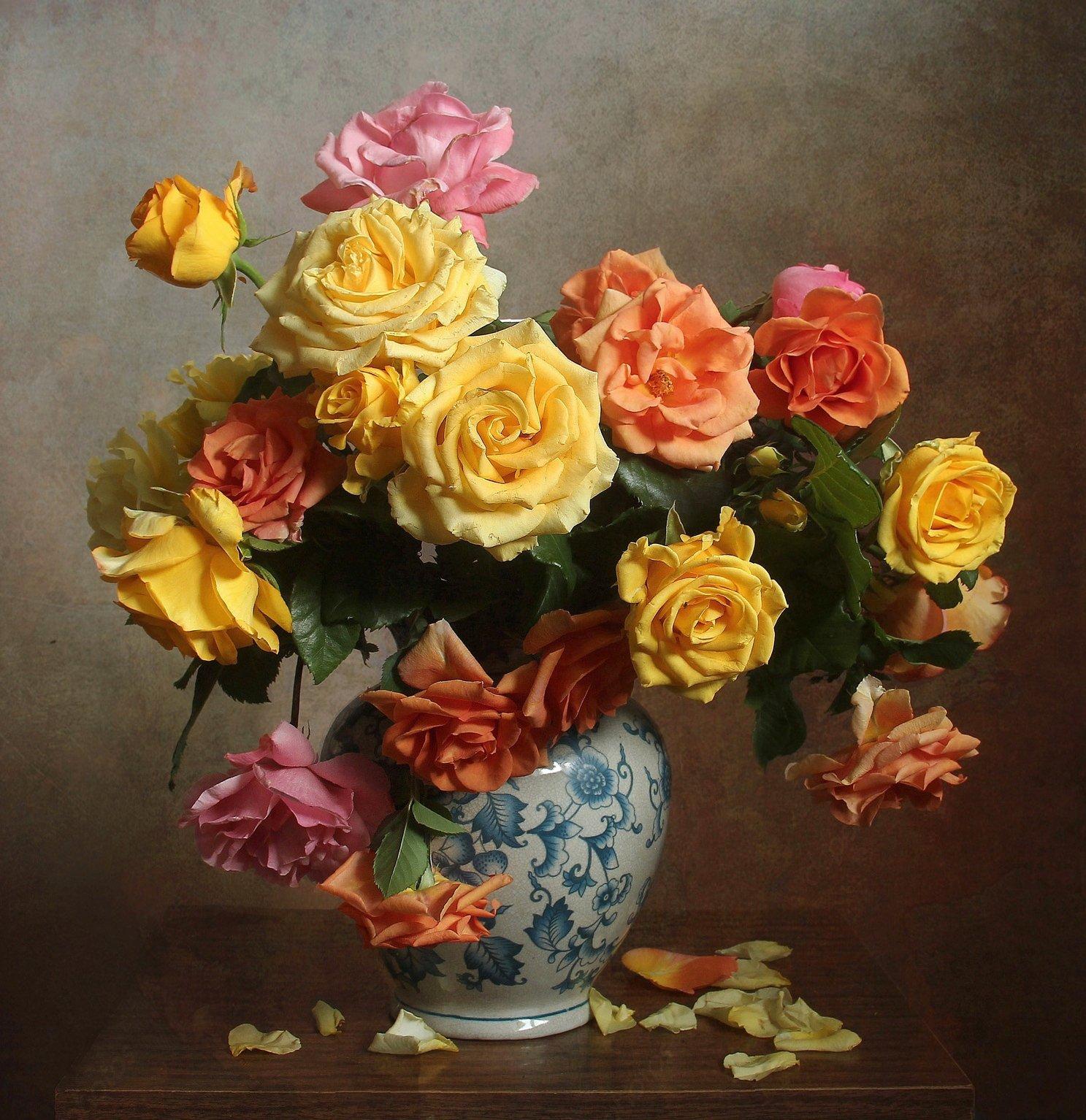 лето, розы, цветы, натюрморт, марина филатова, Филатова Марина
