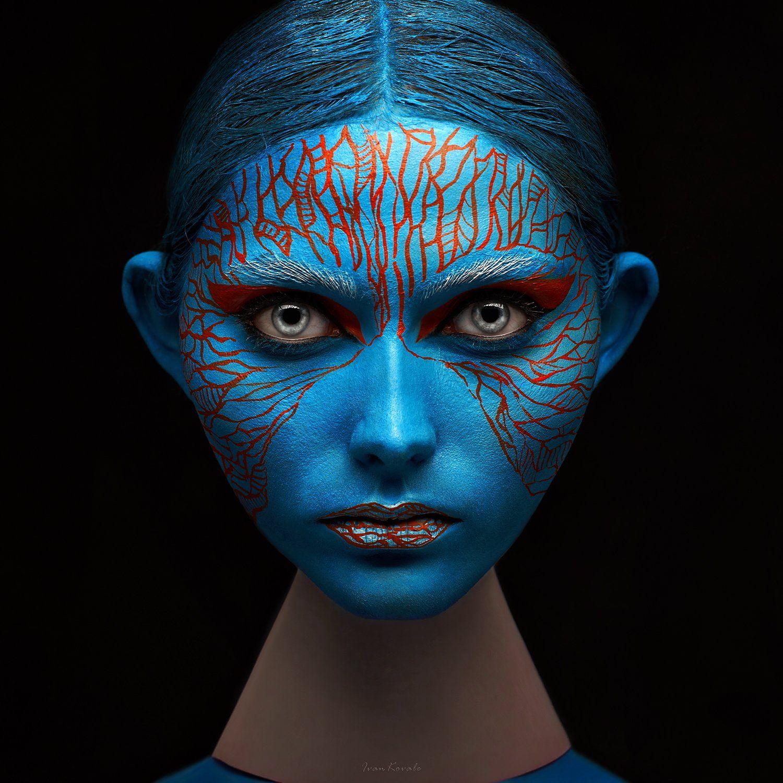wall art, wallpaper, face art,, Ковалёв Иван