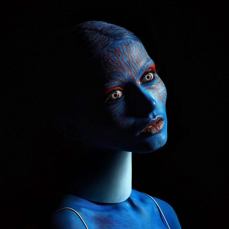 eyes, conceptual portrait, wall art, 2020, Ковалёв Иван