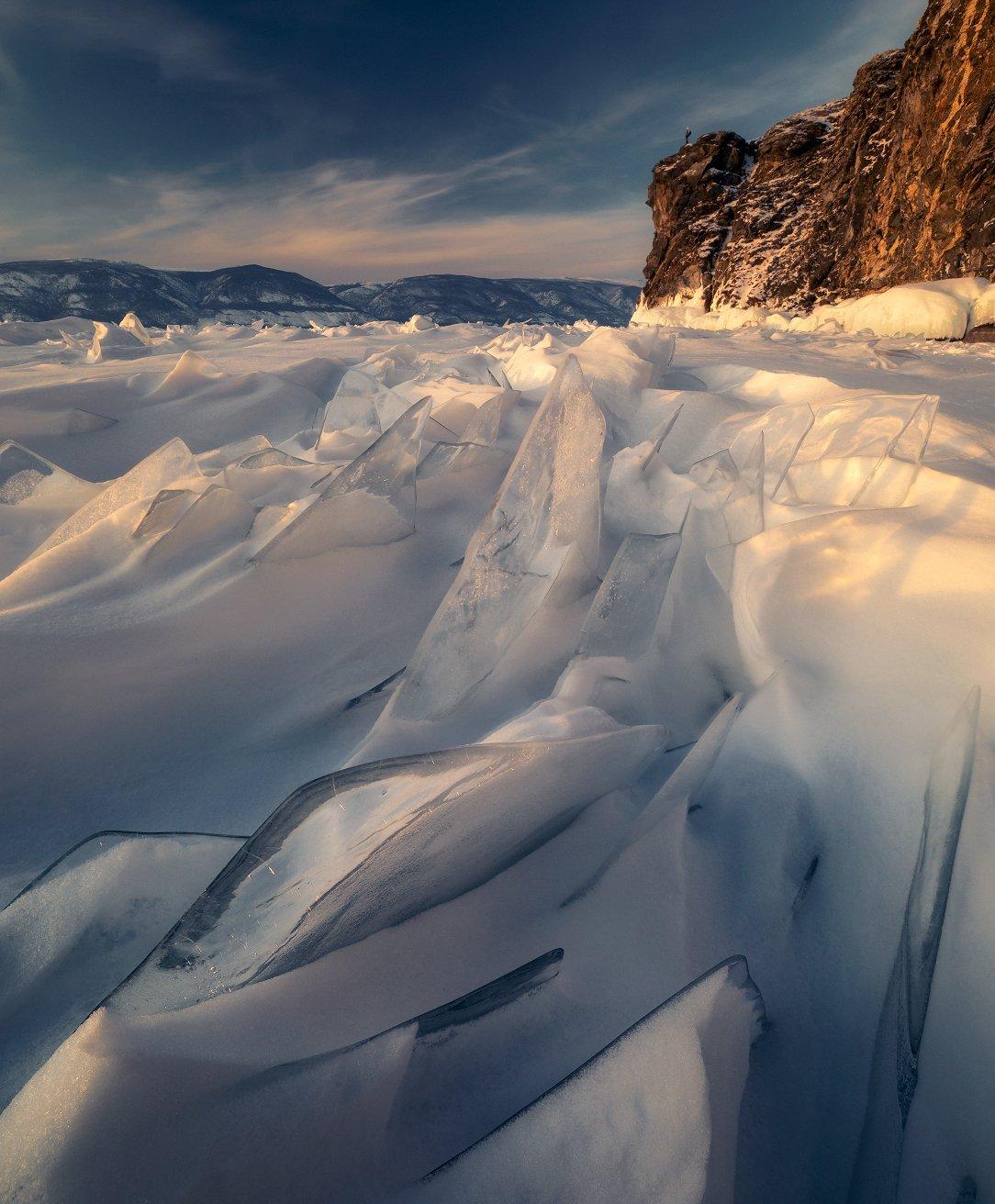 торосы, байкал, зима, пейзаж, природа, лед, baikal, Сергей Луканкин