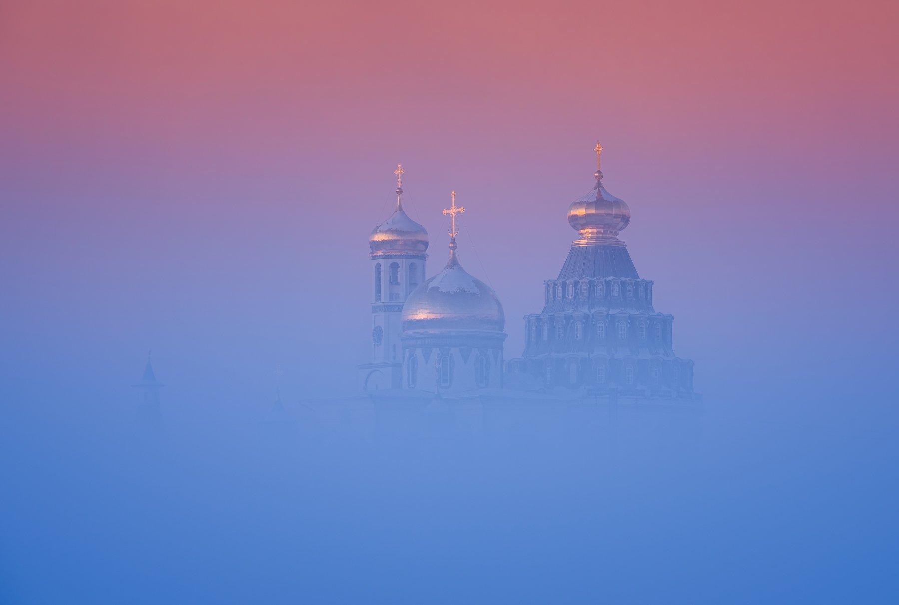 зима, рассвет, утро, пейзаж, истра, Левыкин Виталий