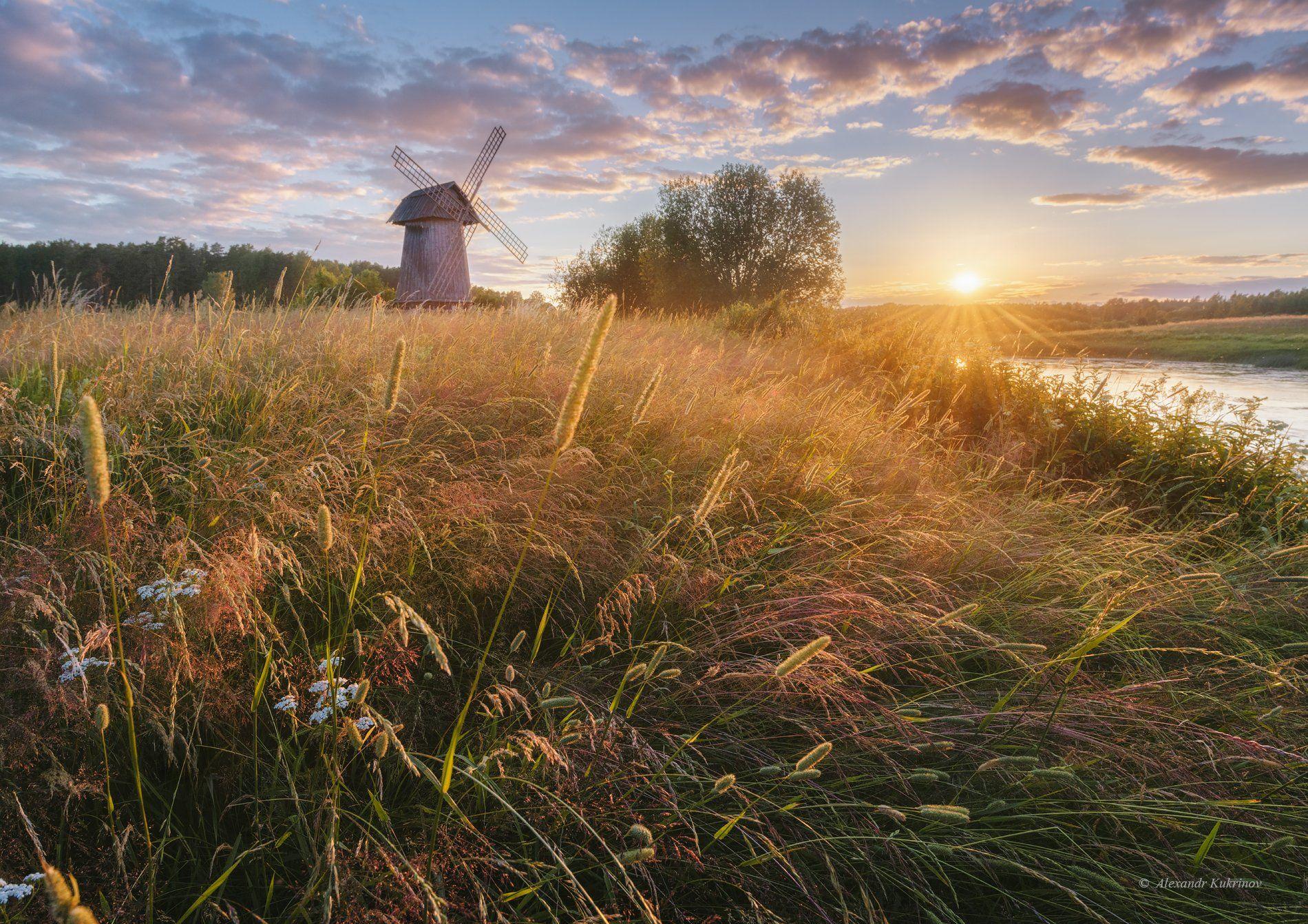 пушгоры,пезаж,лето,закат, Александр Кукринов