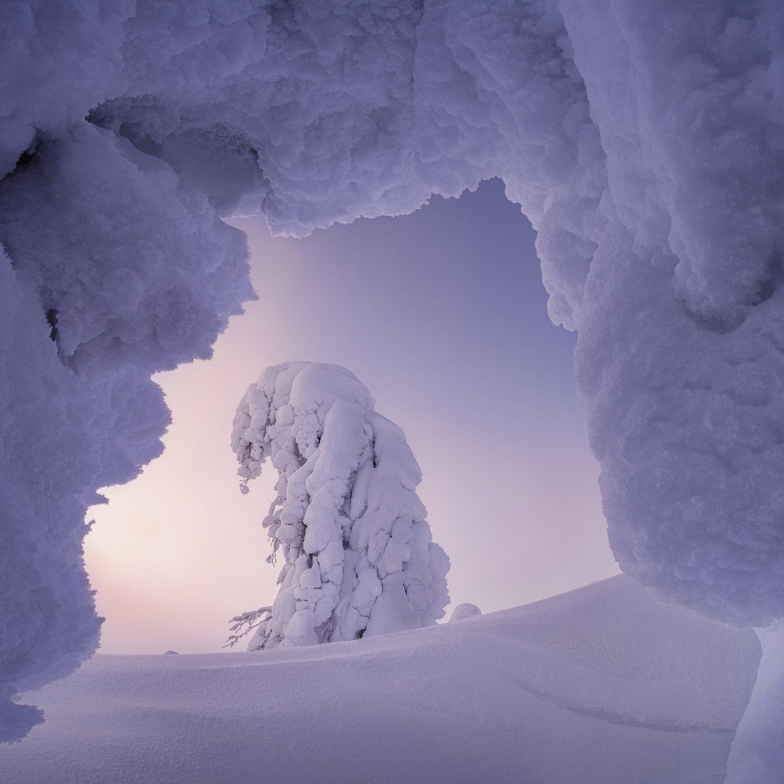 рассвет, главный уральский хребет, гух, зима, урал, северный урал, Желтов Глеб