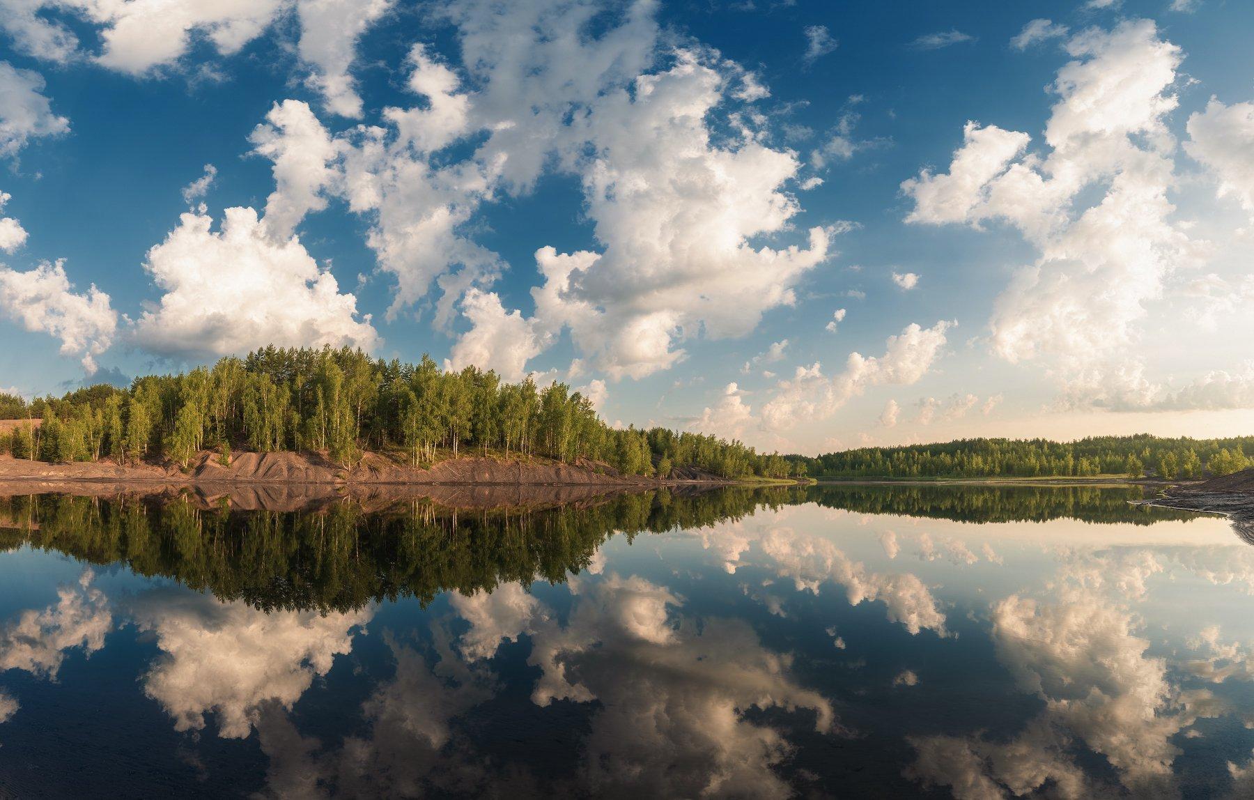 лето, карьер, суворов, утро, пейзаж, Левыкин Виталий