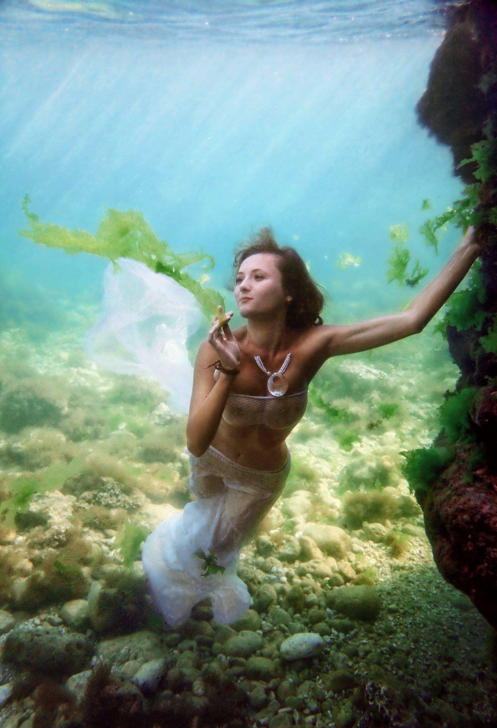 под водой, крым, черное море, девушки, ню, Ковальчук Эдуард