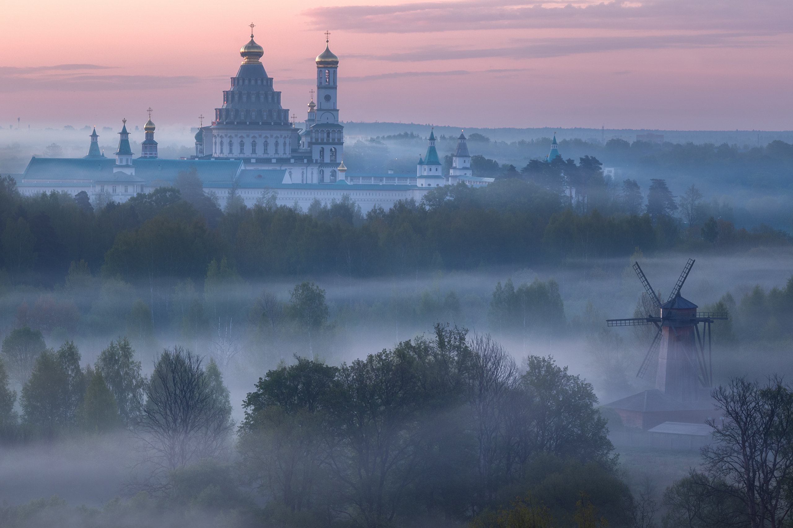подмосковье, истра, храм, туман, весна, Стрельчук Александр
