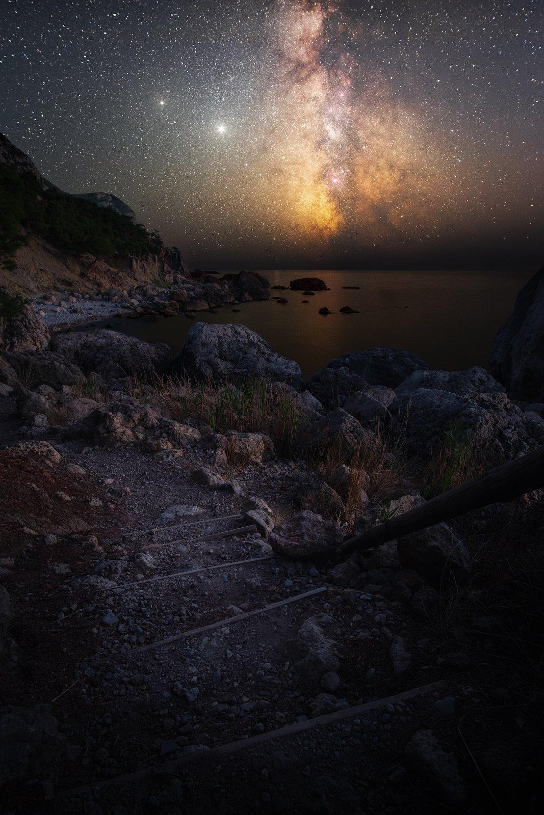 звезды, крым, юбк, астро, млечный путь, черное море, балаклава, инжир, ночь, осень, Желтов Глеб