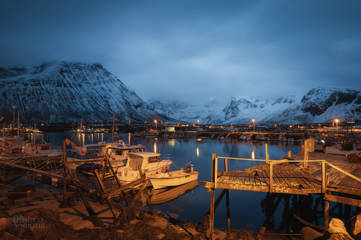 norway,arctic,northern,north,night,harbor,boats,tromvik,tromsoe,tromso,, Szatewicz Adrian