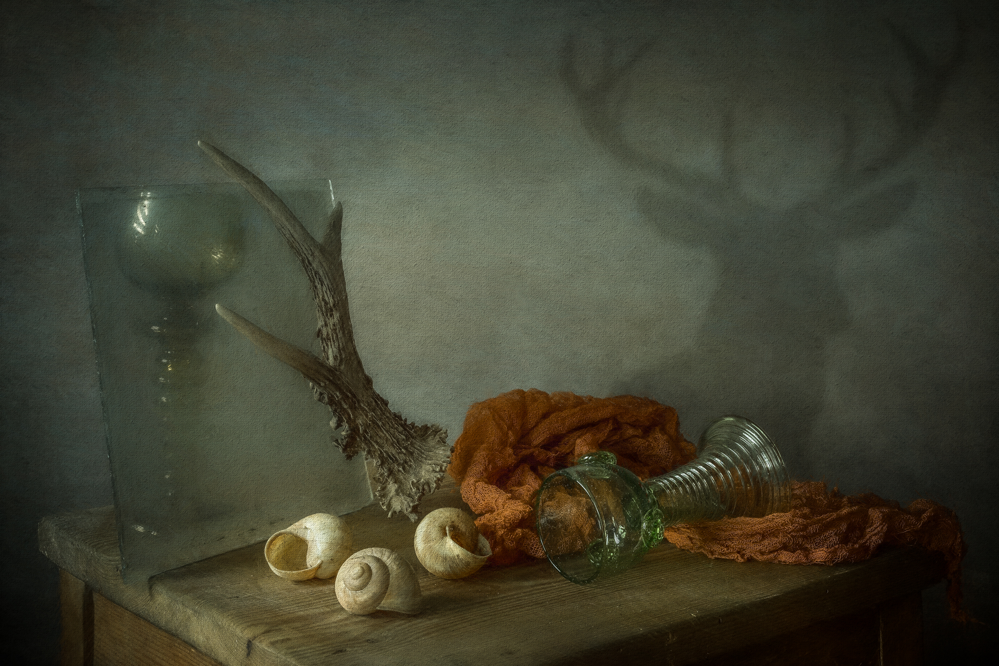 still life, composition, vintage, memory, deer, old, dutch painting, dutch, painting, Iwona Czubek