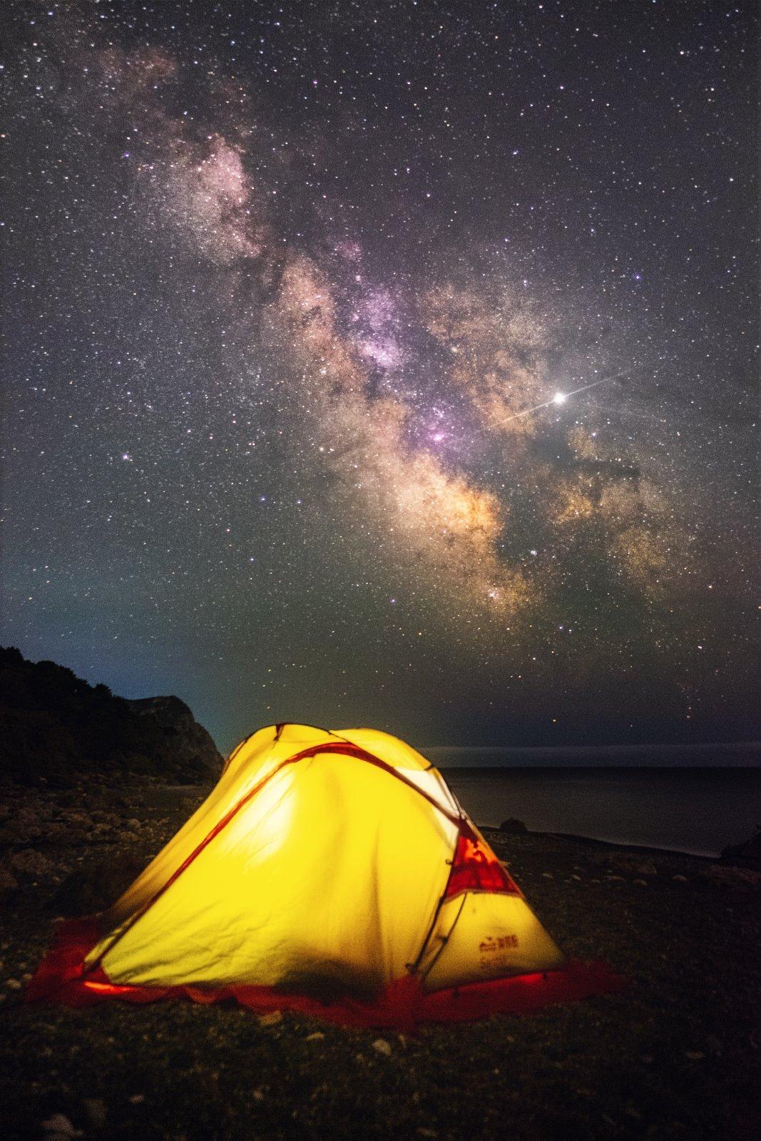 ночь, звезды, астро, млечный путь, milky way, крым, юбк, черное море, балаклава, весна, Желтов Глеб