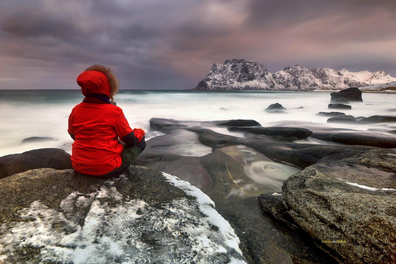 Lofoten, landscape, sunset, clouds, long exposure, sea, water,, Hudzik Roman