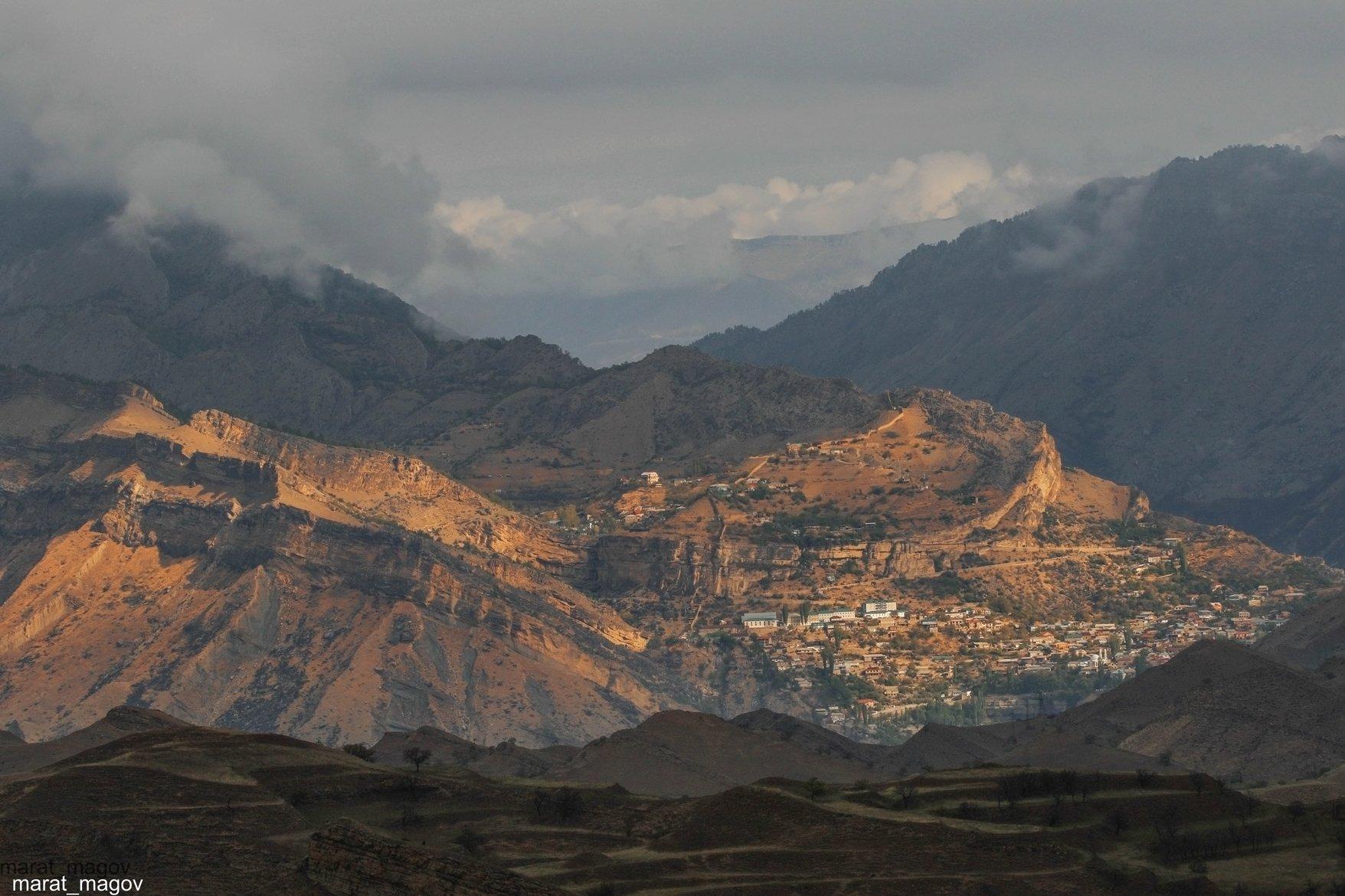 горы,гуниб.вершины,пейзаж,небо,деревья,дагестан,природа, Magov Marat