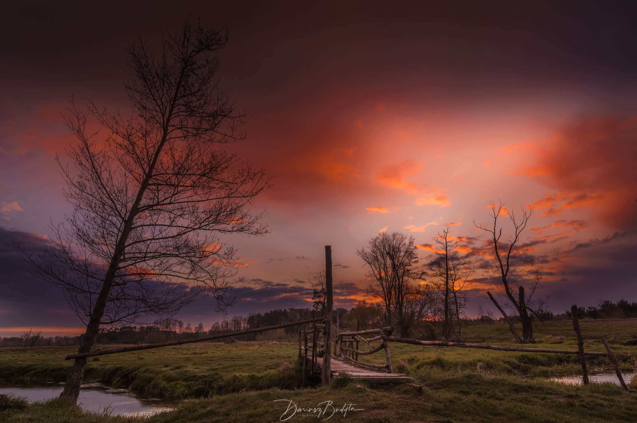 sunrise, spring, river, jeziorka, sky,, Budyta Dariusz