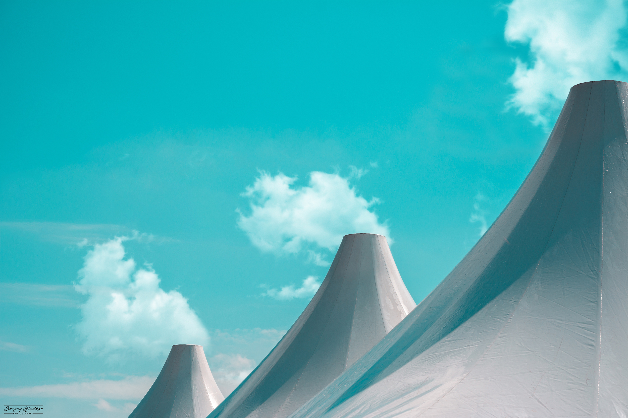 architecture, city, urban, abstract, blue, clouds, light, tents, Russia, Rostov on Don , Гладков Сергей