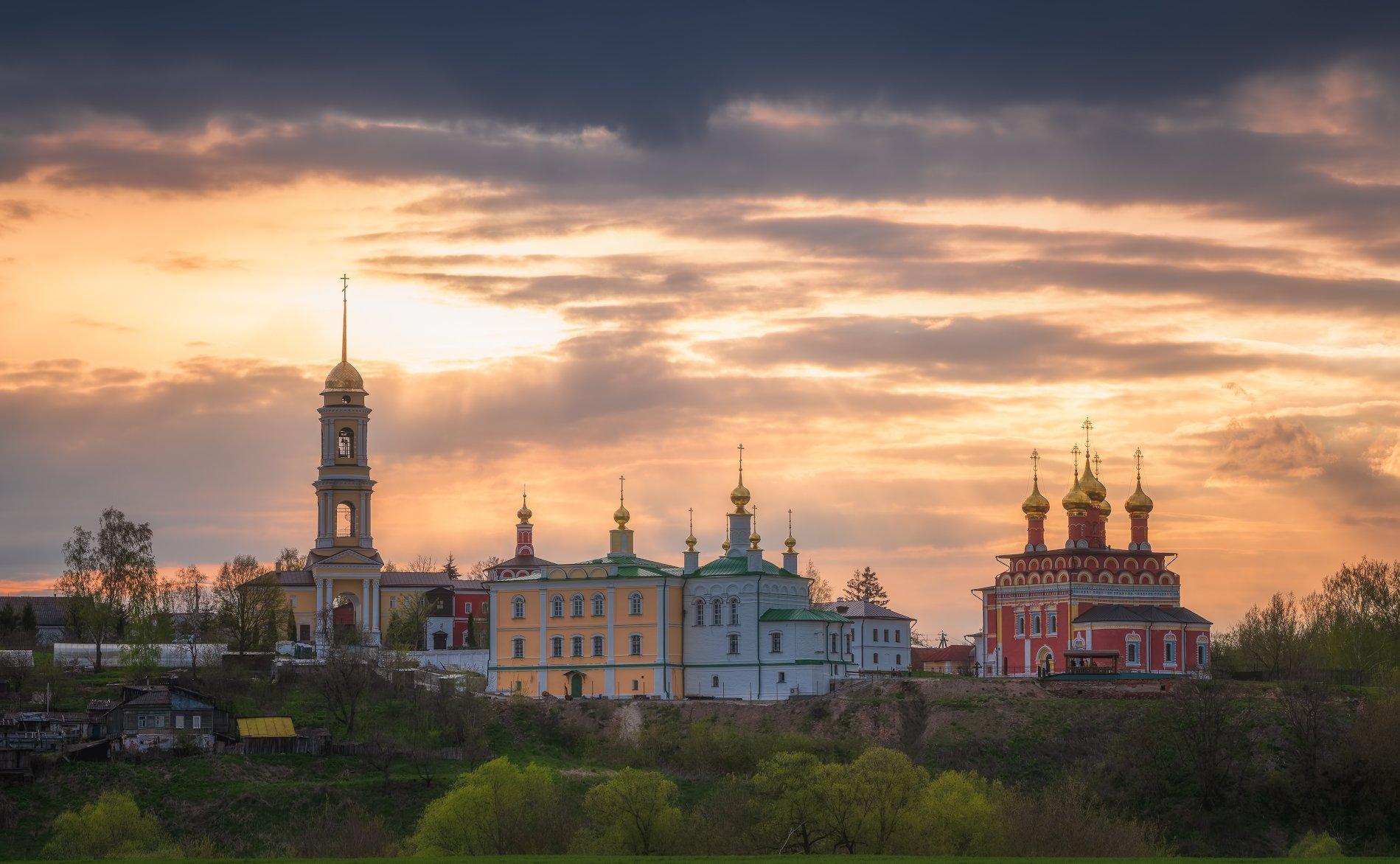 вечер, пейзаж, храм, белёв, Левыкин Виталий