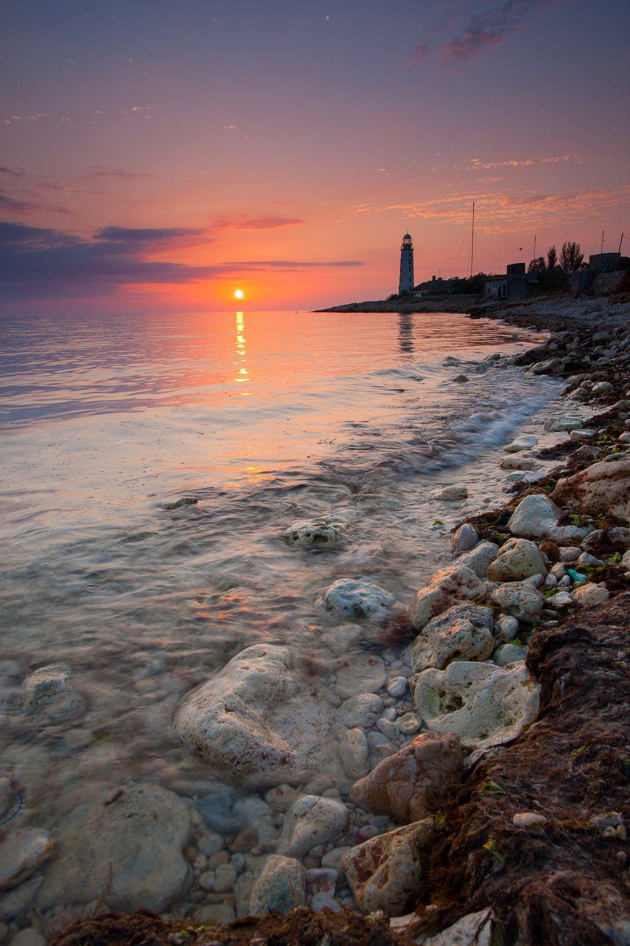 херсонес, мыс херсонес, черное море, крым, херсонесский маяк, севастополь, Titov Serge