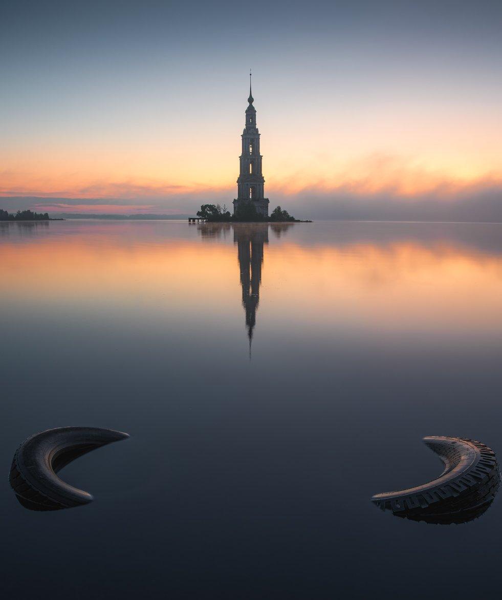калязин, утро, пейзаж, Левыкин Виталий