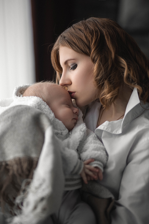 портрет, семья, девушка, мама, малыш, младенец, любовь, счастье, portrait, family, child, mother, love, happy, Васильев Владимир
