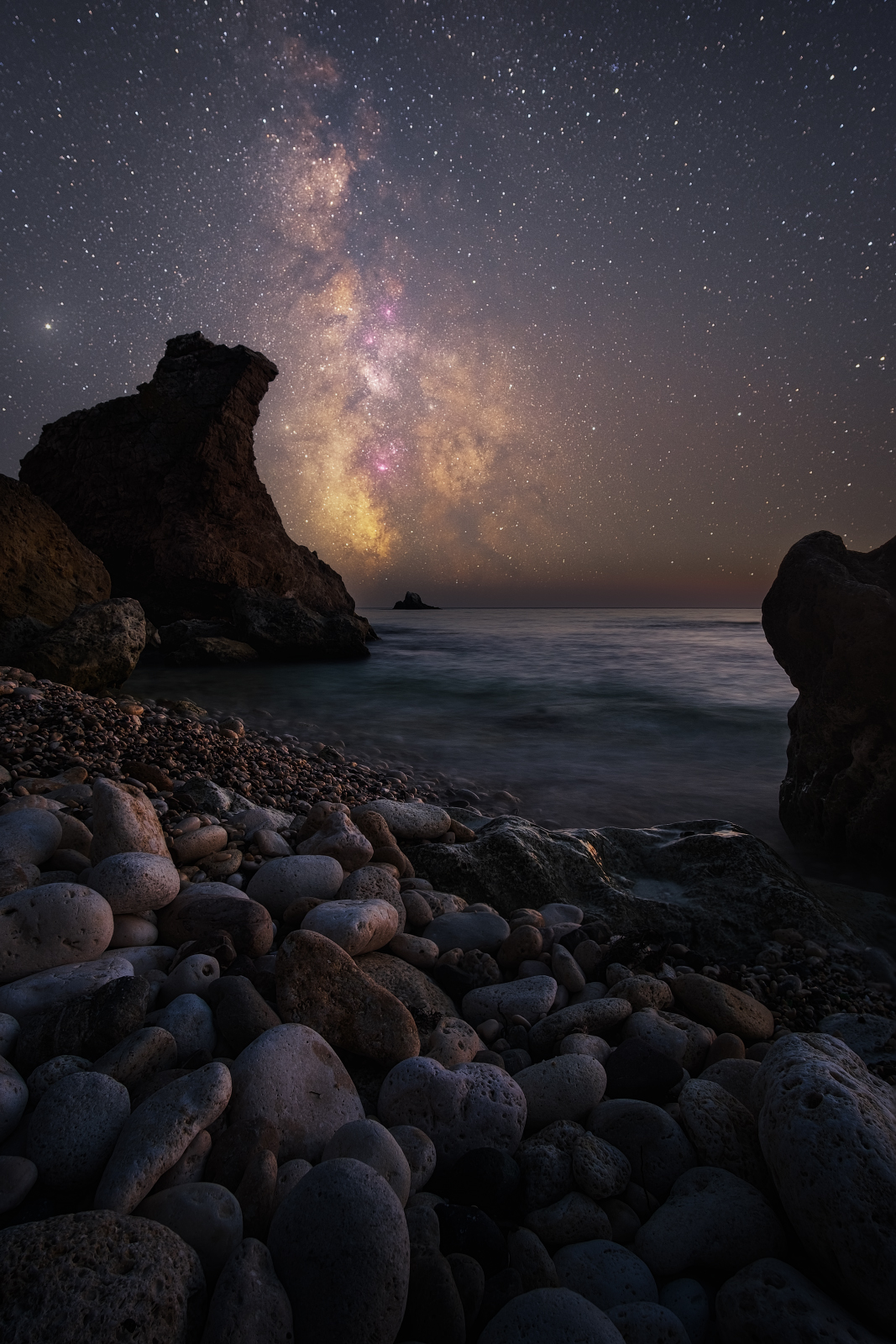 ночь,звезды, астро, млечный путь, milky way, крым, юбк, черное море, фиолент, осень, Желтов Глеб