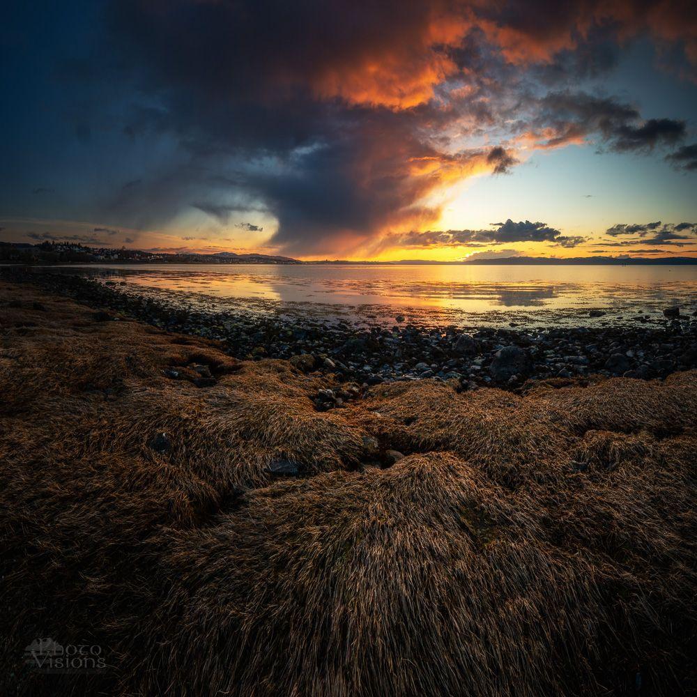 sea,seascape,sunset,norway,sky,clouds,shoreline,coast,, Szatewicz Adrian