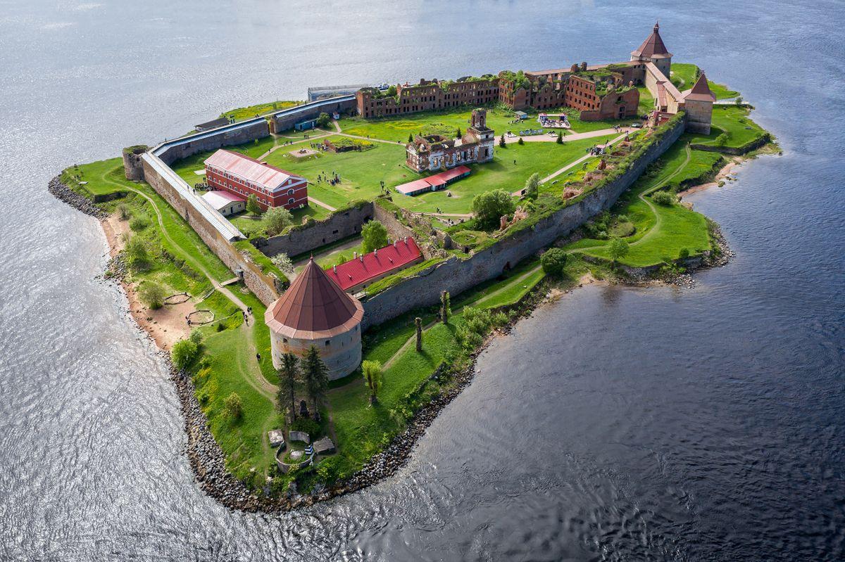 крепость, орешек, нева, ладожское, озеро, остров, Вячеслав Мельников