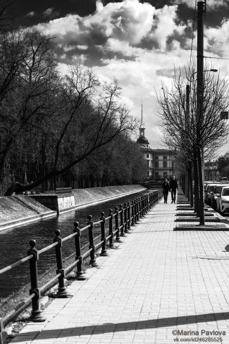 чёрно - белое фото, монохром, стритфото, уличная фотография, лебяжья канавка, михайловский замок, город, петербург, nikon, Павлова Марина