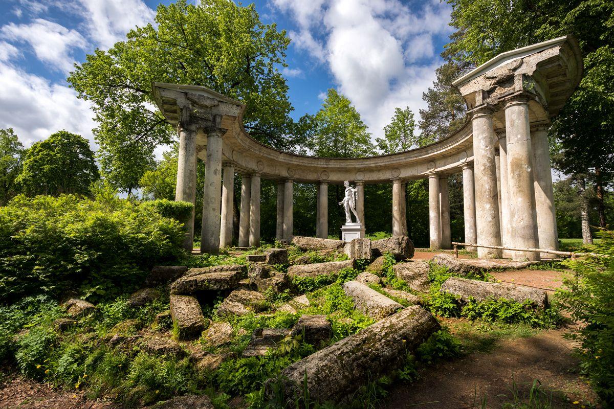 коллонада, апполон, парк, развалины, руины, античный, Вячеслав Мельников