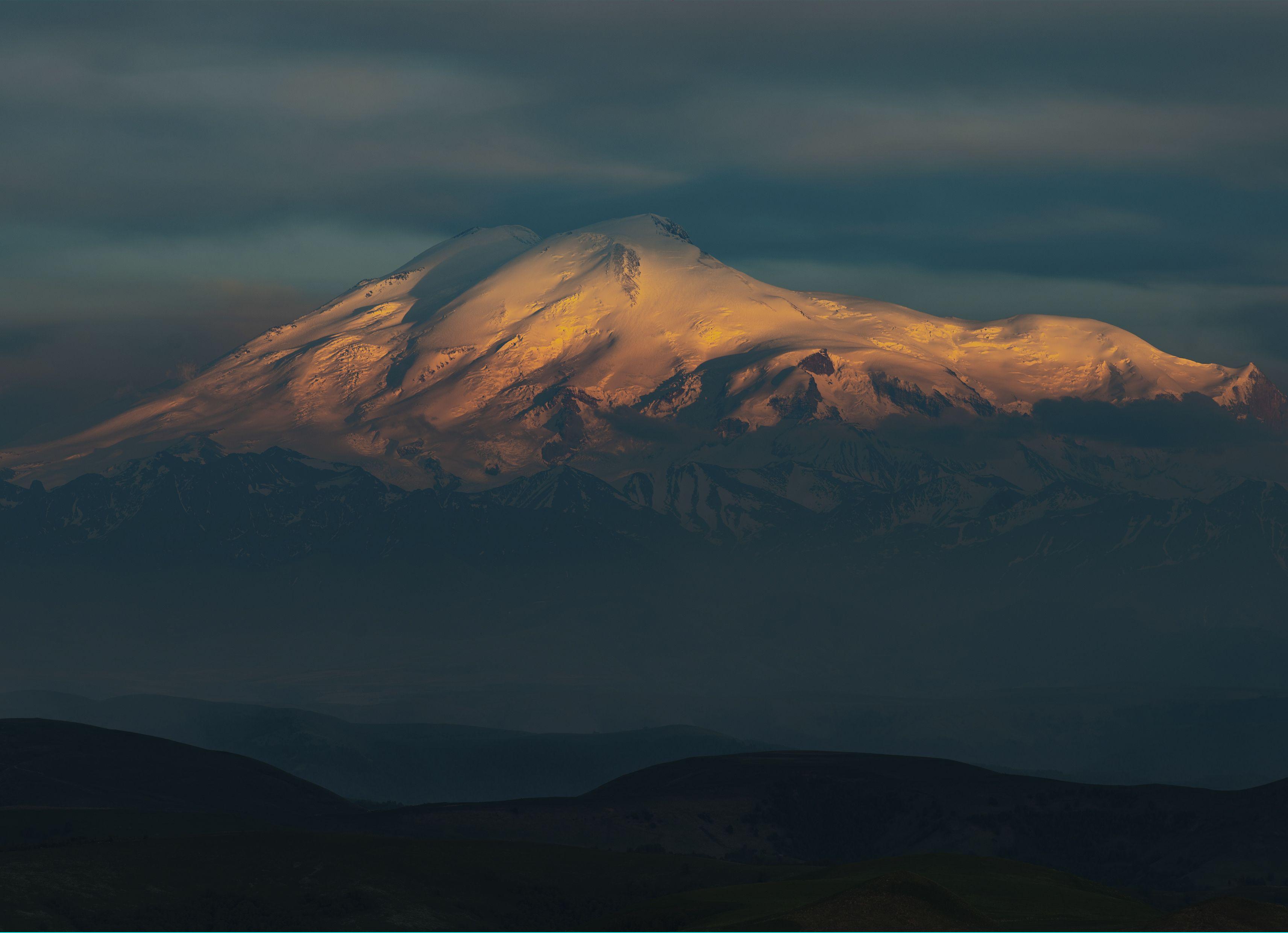 эльбрус, закат, горы, карачаево-черкесия,свет, облака, Алабердов Арсен