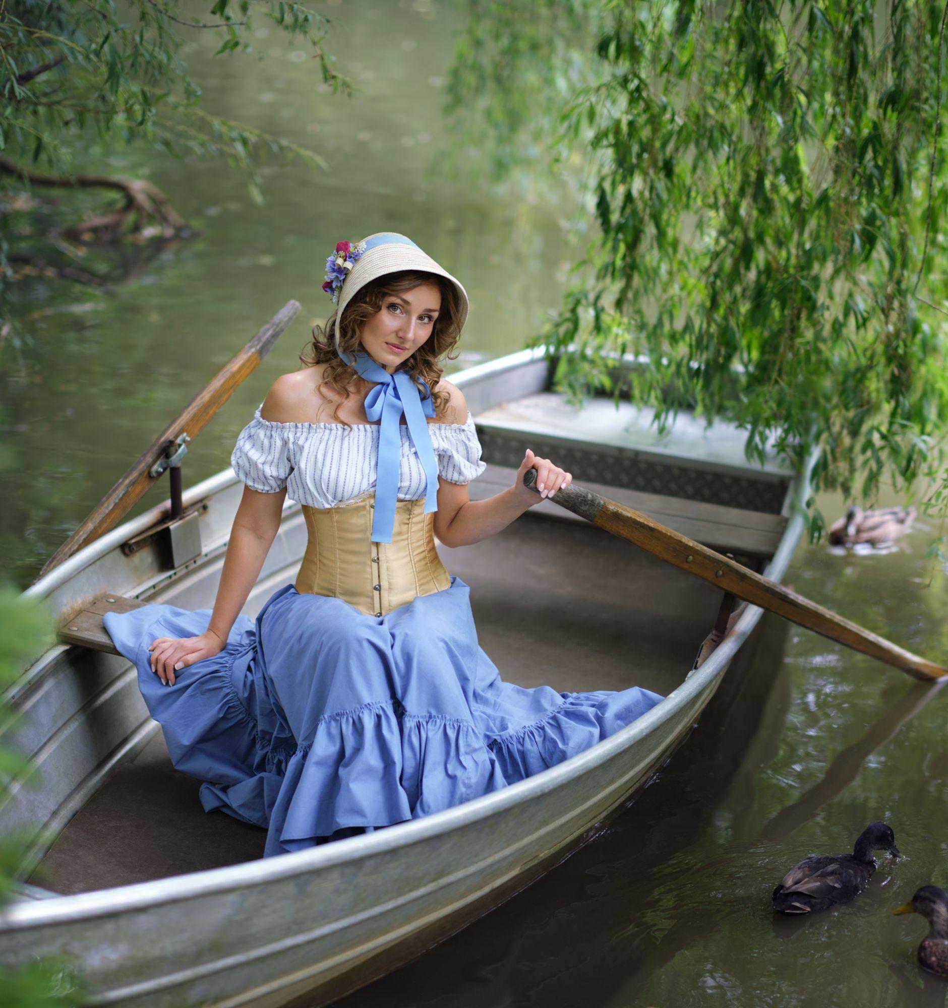 Пруд, портрет, вода, женский портрет, Seitner Natalie