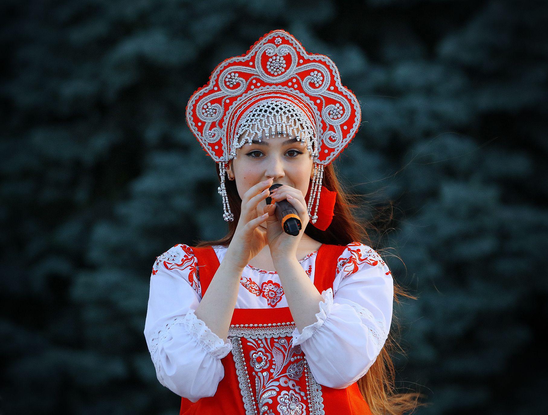 девушка,певица,русский фольклор,, Magov Marat