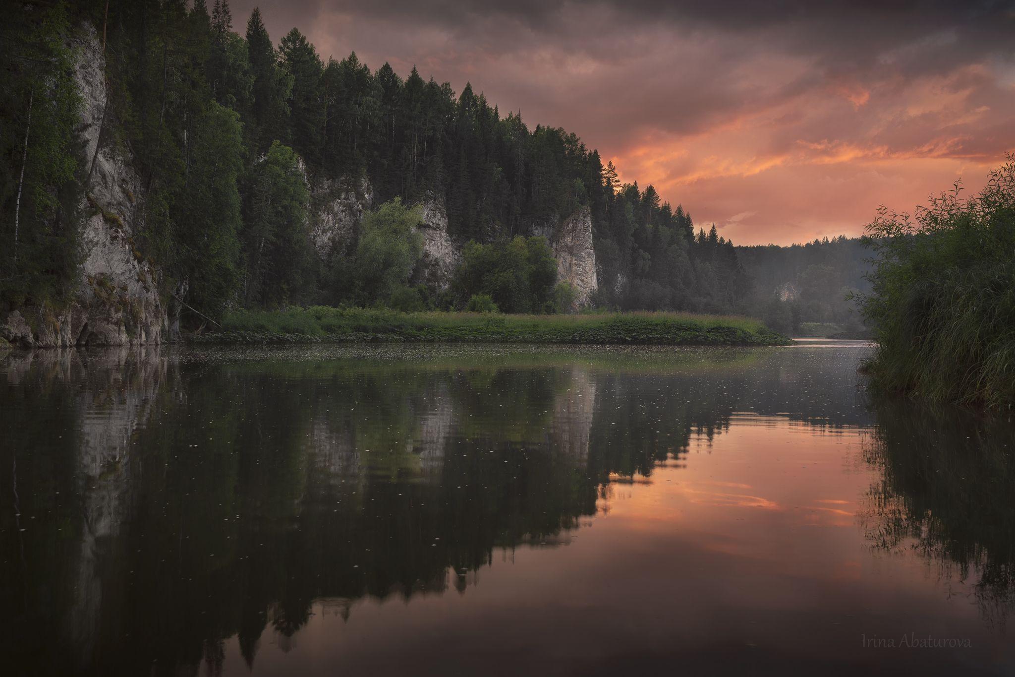 урал, оленьи ручьи, река, серга, закат, Абатурова Ирина