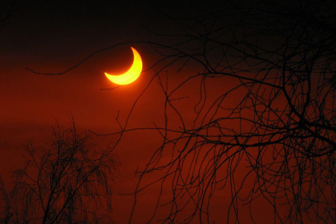 затмение пленка солнечное солнце красное, Алексей Медведев