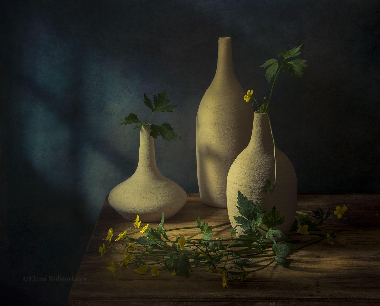 натюрморт ,цветы ,лютики ,кострома, Елена Рубинская