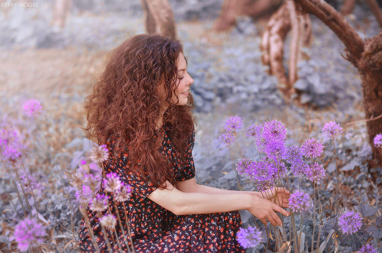 portrait, girl, портрет,style,light,flowers,nature,happy,model,woman,female,  Kerry Moore