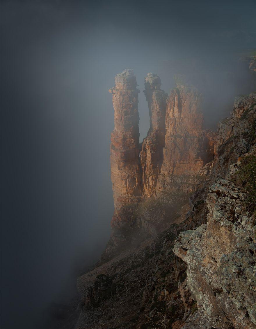 природа, пейзаж, горы, кавказ, бермамыт, туман, скалы, Беляев Альберт