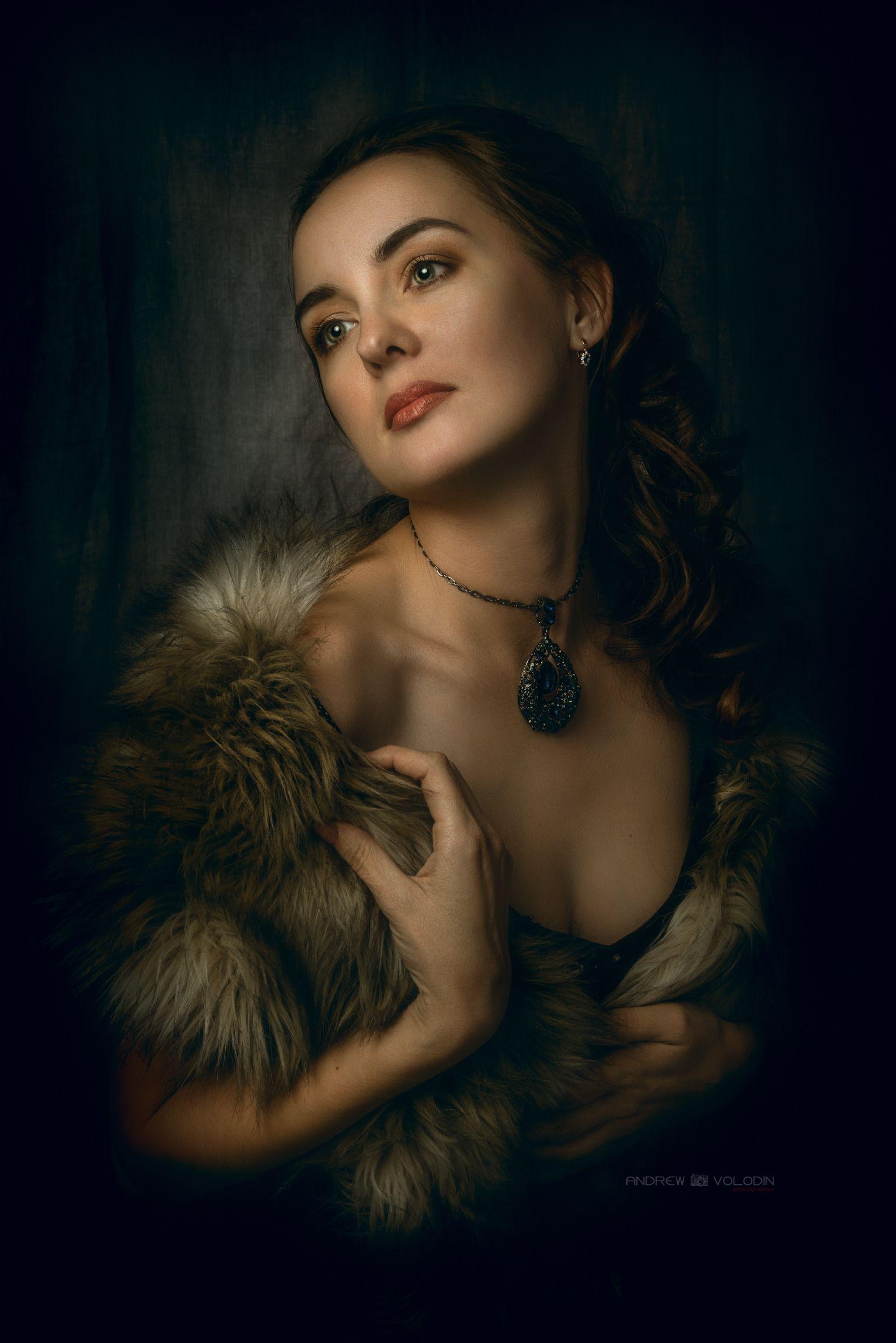 портрет девушка искусство живопись, Андрей Володин