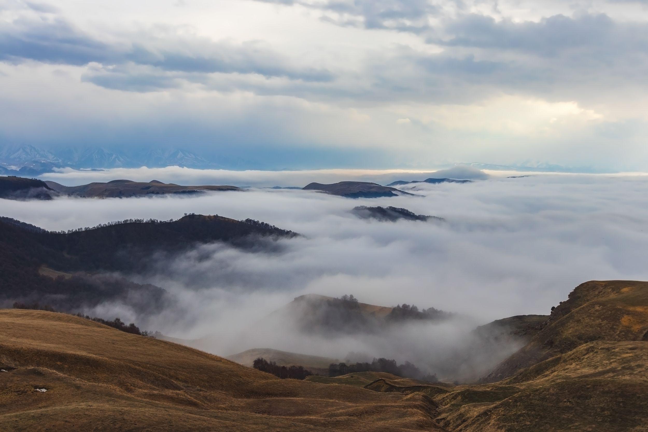 горы,восхождение,кавказ,облака,  Эстелла