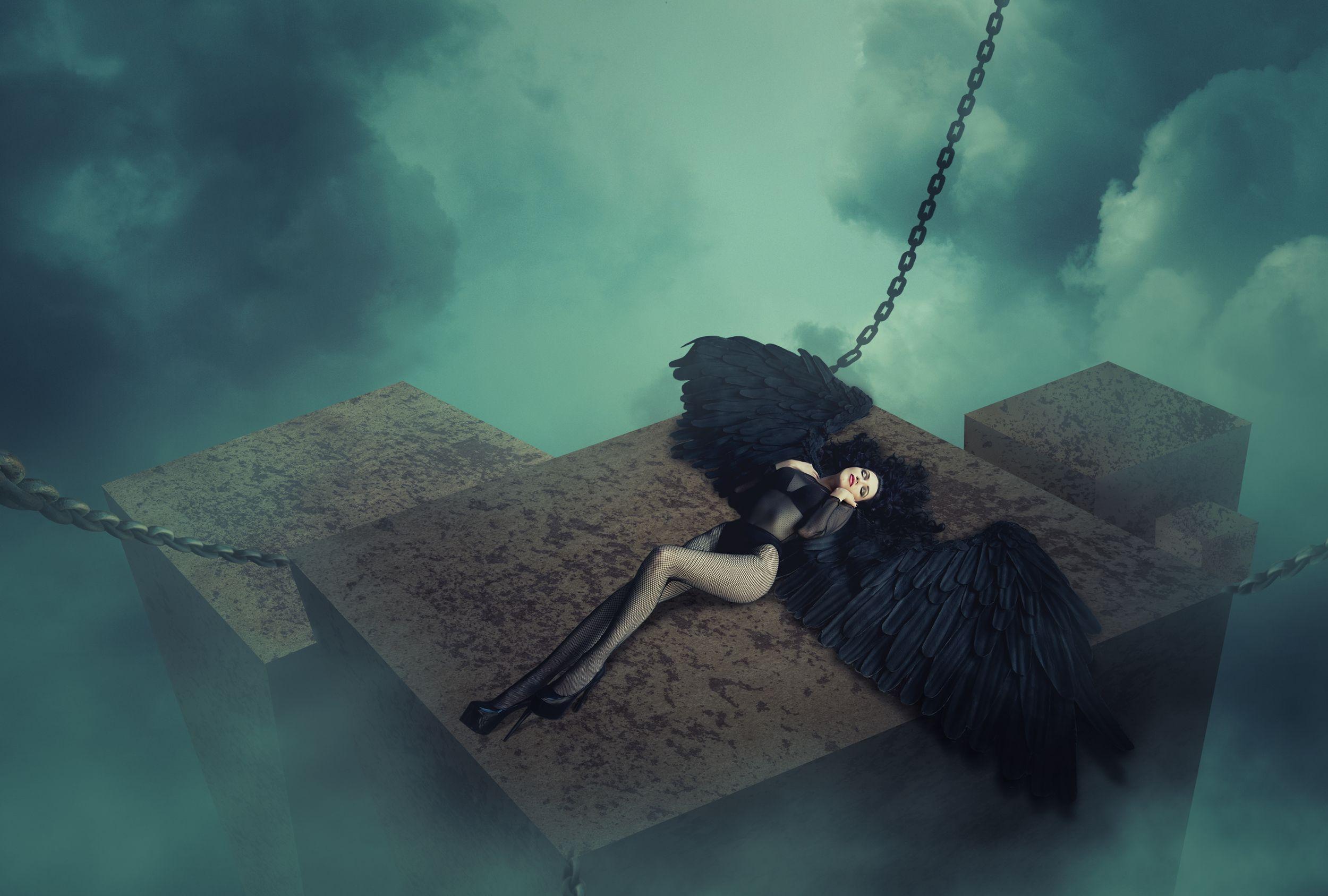 ангел, облака, Sergii Vidov