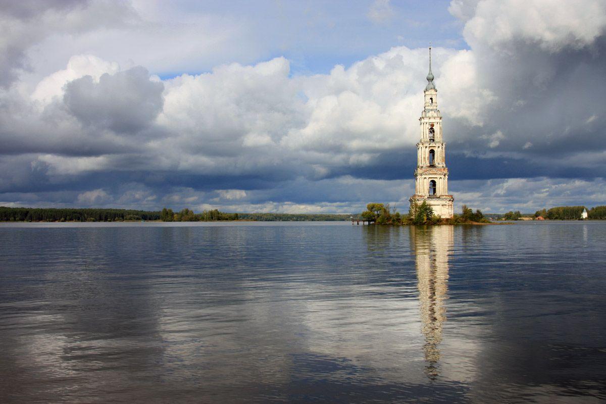 калязин, колокольня никольского собора, волга, Тарасов Алексей